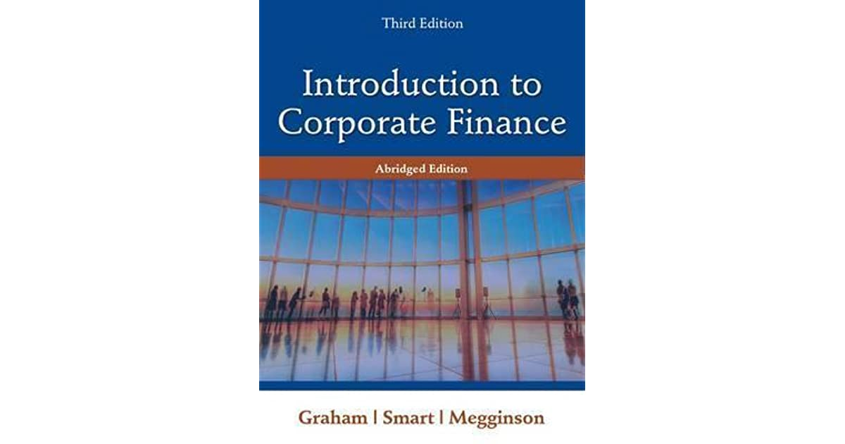 introduction to corporate finance graham pdf
