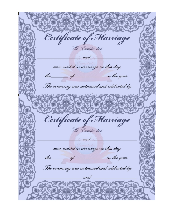 mexican marriage certificate translation template pdf