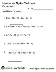 adding and subtracting algebraic expressions worksheets pdf