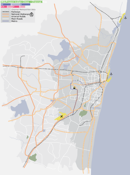 chennai map in pdf format