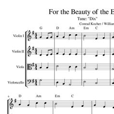 for the beauty of the earth chords pdf